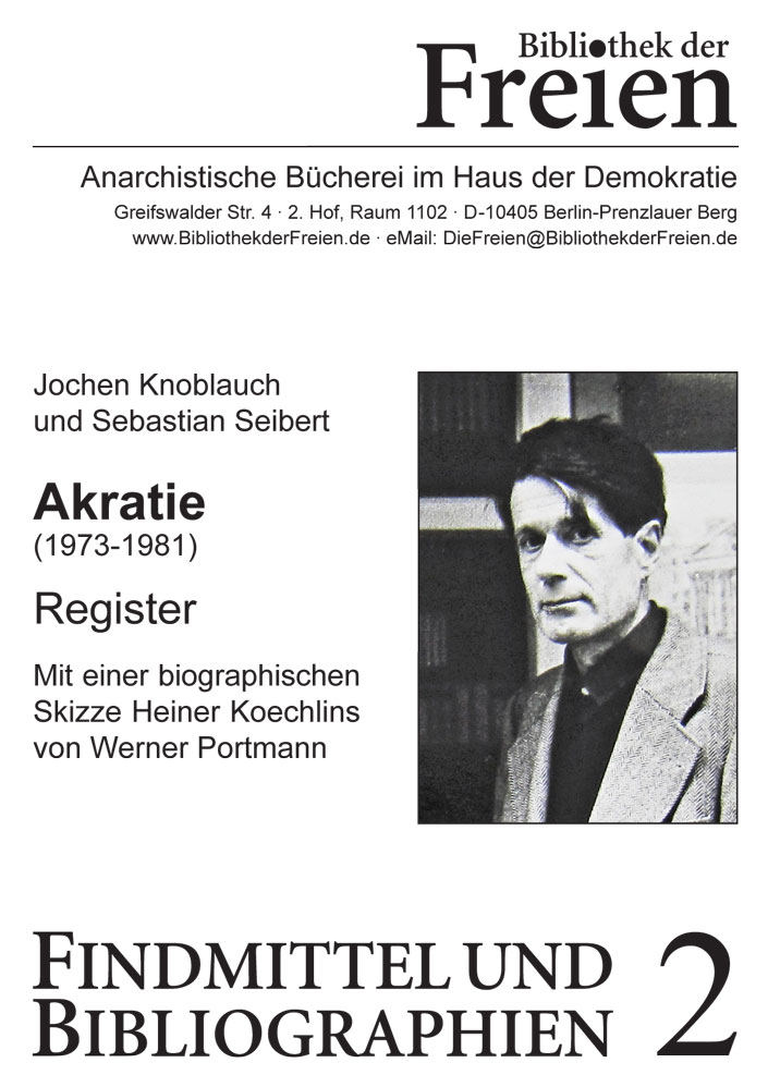 Akratie (1973-1981). Register.