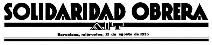 'Solidaridad Obrera', 21 August 1935